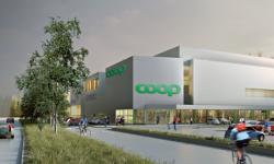 Coop Fastigheter bygger butik med tennishall på taket