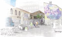Bygger orangeri på Magasinsgatan